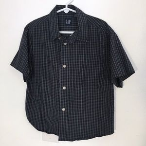 LAST CHANCE Gap Kids' Short Sleeve Checkered Shirt